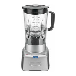 Cuisinart PowerEdge 1000 Watt Blender - The Cuisinart PowerEdge_�� 1000-Watt Blender is constructed with a heavy die-cast metal base and a lightweight  64-Oz. Bisphenol A (BPA) free Tritan_�� copolyester blender jar from Eastman. Ideal for today_��s gourmet kitchen  it is the perfect combination of high style and high tech! We have added pre-programmed Smoothie  Ice Crush and Pulse functions to blend smoothies  frozen drinks or crush ice flawlessly.Product Features                                   1000 watts of blending power  our most powerful blender            Power6 Turbo-Edge_�� design enhances vortex performance  with better turbulent flow            Auto Pre-Set Programming (APP) for: Smoothie  Ice Crush  and Pulse _�� a pre-set program that synchronizes timed pauses with bursts of power during blending for optimum results            Our largest capacity easy-to-read  64 Oz. Tritan_�� jar from  Eastman is BPA-free            Ergonomic  comfort grip handle            Die-cast metal housing with backlit functions            Backlit Count-Up_�� Timer with beep after 4 minutes of blending time            Standby mode            Limited 3-year warranty            BPA Free