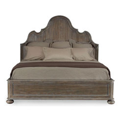 Belgian Oak King Panel Bed