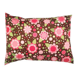 """A Little Pillow Company - A Little Pillow Company: Toddler Pillowcase (Envelope Style), Flower Power - Wrap """"A Little Pillow Company"""" pillow in only the best!  This envelope-style toddler pillowcase is Made in the USA from a 100% soft cotton fabric."""