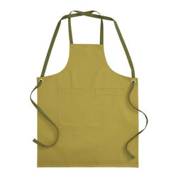 Ivy Apron - Love the pea soup green hue of this apron - seems fitting for a kitchen!