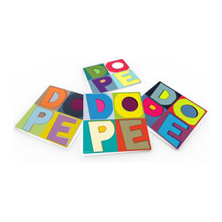 """Custom Photo Factory - Maxwell Dickson """"DOPE-Colors"""" Crystal Clear Glass Coaster Sets - Made in the USA. Materials: Smooth tempered glass. Set includes: Four (4) or Six (6) drink coasters. Dimensions: 3.94"""" x 3.94"""" x 3/16"""".  Image imprinted on the backside so the item on top of the coaster is never interacting with the print surface. The crystal clarity of our glass coasters delivers reliably uniform color reproductions. Crafters, artists and interior designers will find countless ways to use the features of these glass coasters. This will be the highest quality coasters you've even seen."""