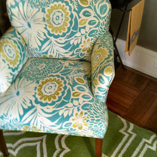 Eclectic Living Room Chairs by HOBNOB design