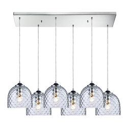 Elk Lighting - Viva 6-Light Clear Pendant in Satin Nickel - Viva 6 light clear pendant in satin nickel