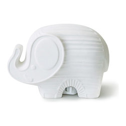 Jonathan Adler Ceramic Nightlight, Elephant - Jonathan Adler delivers a mod ceramic elephant that ups the style meter for a little nightlight. It's a cool sculptural element for a room.