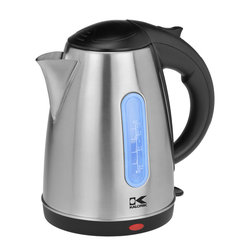 Kalorik - Stainless Cordless Kettle - Boiling water is easy and chic with a cordless kettle. They look great sitting on the counter, and you have hot water faster than using the microwave or a pot on the stove. You really can't go wrong with this modern kettle.