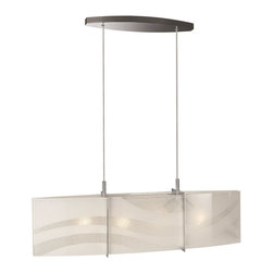 Philips - Philips PH-375001148 Wave Pendant Light with Etched glass, Chrome - Philips PH-375001148 Wave Pendant Light with Etched glass, Chrome