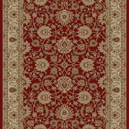 "Concord Global - Concord Global Ankara Mahal Red Oriental  3'11"" x 5'5"" Rug (6550) - The Ankara collection is made of heavy heat-set olefin and has the look and feel of an authentic hand made rug at a fraction of the cost. New additions to the line include transitional patterns that are up to date in the current fashion trend. Made in Turkey"