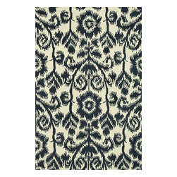 """Loloi Rugs - Loloi Rugs Taylor Collection - Navy, 7'-10"""" x 11'-0"""" - The colors are vivid and the designs are beautiful, but what's really special about the Taylor Collection is its knobby, textural feel underfoot. That's because each Taylor rug is hand-hooked by skilled artisans in India to form a thick 100% wool pile. And with transitional designs ranging from trendy chevron patterns to fresh damasks, it's easy to find just the right style for your home."""