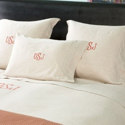 Provence Collection Bedding - These are the perfect subtle monogram. We adore the traditional Italian element.