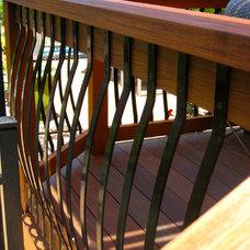 Contemporary Deck by Spring Creek Design