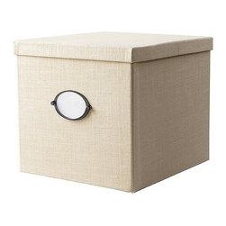 KVARNVIK Magazine box with lid - Magazine box with lid, white
