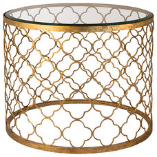 Mediterranean Side Tables And Accent Tables by Kathy Kuo Home