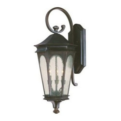 Capital Lighting - Capital Lighting 9383 3 Light Outdoor Wall Lantern from the Inman Park Collectio - Capital Lighting 9383 Inman Park Collection 3 Light Outdoor Wall LanternFrom the Inman Park Collection, this traditionally styled three light outdoor wall lantern with seeded glass will provide ample lighting.Features: