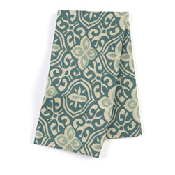 Aqua Moroccan Mosaic Custom Napkin Set - Our Custom Napkins are sure to round out the perfect table setting'whether you're looking to liven up the kitchen or wow your next dinner party. We love it in this teal & aqua block print reminiscent of traditional morrocan mosaics.