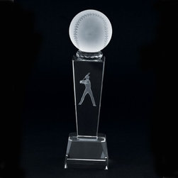 Kito - 8.58 Inch High Quality Clear Crystal Holographic Baseball Trophy - This gorgeous 8.58 Inch High Quality Clear Crystal Holographic Baseball Trophy has the finest details and highest quality you will find anywhere! 8.58 Inch High Quality Clear Crystal Holographic Baseball Trophy is truly remarkable.