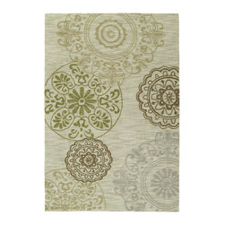 Kaleen - Inspire 6400 42 Happening Linen Rug by Kaleen - 5 ft x 7 ft 6 in - Inspire 6400 42 Happening Linen Area Rug by Kaleen. The Inspire Collection is actually what the name implies, a carefree and airy group of thought provoking designs. True to Kaleen's commitment of exceptional styling and value at an affordable price, Inspire is over-tufting or a layering of textures and colors providing the very best, affordable and durable luxury for any setting in your home or office. The Inspire collection is made of only the finest 100% premium polyester yarn. Hand Tufted in China.