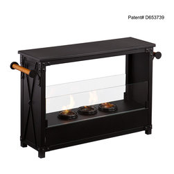 Holly & Martin - Lockport Portable Indoor/Outdoor Gel Fireplace - Add a gorgeous fireplace to your home quickly without the fuss of remodeling. This portable fireplace is ideal for a warm, cozy fire indoors or outdoors.
