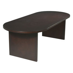 "Office Star Products - 8' Race Track Conference Table in Mahogany Finish - 8' Race Track Conference Table. Mahogany Finish.; Series: Veneer Conference Table Series; Color: Mahogany/Wood; Materials: Veneer/Wood; 8' Race Track Conference Table; Mahogany Finish; Dimensions: 96""W x 42""D x 30""H"