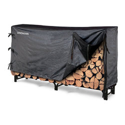 Landmann - 8' Log Rack with Zipper less Cover  (32MM Tube And 1.0MM Thickness) - -Heavy duty steel construction