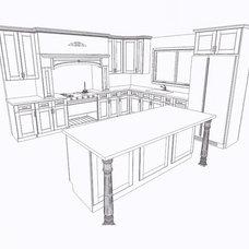 Contemporary Kitchen Cabinetry by JADER Kitchen & Bath