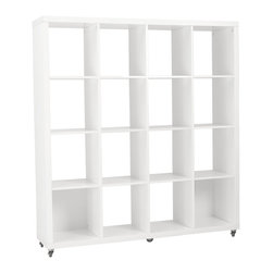 Eurø Style - Sabra White 4x4 Shelving Unit - Features: