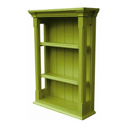 Trade Winds - New Trade Winds Wall Cabinet Green Painted - Product Details