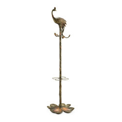 "SPI - Peacock Coat and Umbrella Rack - -Size: 49.5"" H x 18"" W x 18"" D"