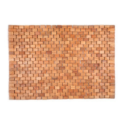 Entryways - Wright Exotic Wood Mat - Natural 18x30 - Crafted of exotic wood, this handsome mat will add an elegant touch to any home. It is from Entryways Exotic Woods collection and meets the industry's highest standards. This design combines natural beauty and durability with surprising affordability.