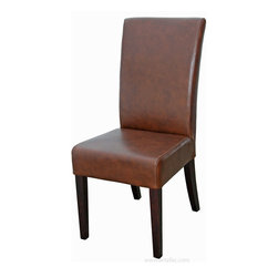 ARTeFAC - Top Grain Leather Dining Chair , Light Distress Brown - Top Grain Leather Dining Chair in Light Distress Brown