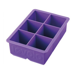 "Tovolo King Cube Ice Tray Purple - Pitcher perfect! The Tovolo King Cube perfect large ice cube trays are fun! ձ the larger surface means that the ice melts slower  your beverage stays colder  and your drink tastes the way it should.  Makes 2"" Perfectly Cube Ice Cubes.  Product Features                        Creates great looking square ice cubes            Food grade silicone eases removal of cubes            Jumbo size encourages delicious additions - berries  herbs or lemon slices            Makes 2"" cubes            Ice cubes melt slower than traditional ice tray cubes            Dishwasher safe."