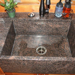 Dakota Sinks : Granite sinks - Indian Dakota farm house undermount sink made out of ...