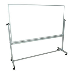 Luxor - Luxor Reversible Whiteboard - MB7240WW - Luxor MB whiteboard series are made from magnetic reversible whiteboards. White paint finish on main frame