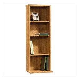 Sauder - Sauder Beginnings Multimedia Storage Tower in Highland Oak Finish - Sauder - Bookcases - 413023