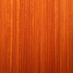 Quartered Padauk Veneer - Padauk veneer, an exotic hardwood that is usually a vivid bold red orange color that ages to a deep crimson brown. Available in a variety of backers and sizes.
