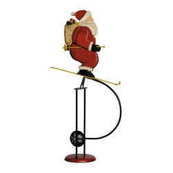 Authentic Models - Authentic Models TM066 Skiing Santa Sky Hook - Our two Holiday characters seem to be a collaborating duo on the ski slopes. Our artist was inspired by vintage images of both gentlemen. The images were researched in turn of the century children's books and magazines. It seems like the Santa is the better skier, which is not surprising since Snowmen lead a habitually sedentary life and most of them foster a fear of decending to warmer temperatures.