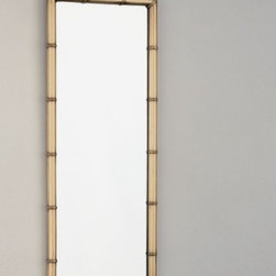"Jonathan Adler Meurice - Believe it or not, brass is BACK! Why not mix it up with a bit of bamboo shape, hang it by the door, and make it your official ""do I have lipstick on my teeth?"" mirror? Oh, and if you still aren't ready to bring brass back in, it's also available in nickel."