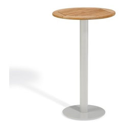 Oxford Garden Travira 24 in. Bar Table - Elegant curves meet a smart streamlined design in the Oxford Garden Travira 24 in. Bar Table making it a perfect choice for upscale settings with a contemporary flair. Featuring a scratch- and rust-resistant powder-coated aluminum post and base this bar table offers a choice of natural teak natural- or vintage-finish teak wood or Alstone Graphite table tops. While teak is the classic option known for its strength durability and beauty teak wood is a wood alternative material developed from polystyrene boasting the look of teak without the maintenance and Alstone features an aluminum core with a granite polymer finish combining the look of granite with the lightweight nature of aluminum. Sturdily constructed for many years of function this bar table is the perfect choice for a weekend libation or a cup of cappuccino with a friend. Why Choose Oxford Garden?Exquisite pieces and impressive product assortment aside there are several factors that set Oxford Garden apart from the competition. First Oxford Garden starts with the best materials. This results in more beautiful more durable furniture. The next thing that distinguishes them is their unrivaled craftsmanship. They take pride in meticulous construction of each product. In fact Oxford Garden has a unique multiple quality checkpoint system to be sure you're getting the best. Most of their products go through rigorous consumer safety tests and before they package any product they put it together themselves to ensure it assembles seamlessly for you. Thirdly Oxford Garden believes furniture should be comfortable and attractive. They create ergonomic pieces designed to accommodate the contours of the human body. Finally by using carefully selected materials Oxford Garden is able to bring you affordable luxury. Their superb craftsmanship ensures longevity for years of enjoyable use while their incomparable designs are centered on comfort and beauty.