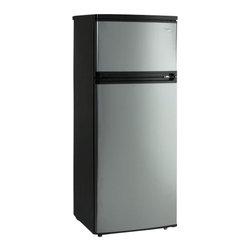 Avanti - Avanti 7.4 Cubic Foot Black/Platinum Two Door Apartment Size Refrigerator - FEATURES