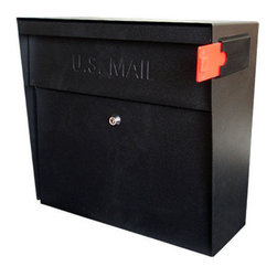 Metro Locking Wall-Mount Mailbox - Designed with your convenience and security in mind, this mailbox is constructed of tough, vandal resistant, heavy gauge galvanized steel. With identity theft being an ongoing crime that can happen to anyone the locking access door is protected by a commercial-grade anti-pick lock that will protect your identity and private information and prevent it from getting into the wrong hands.