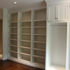 Transitional Closet by Woodland Partners Custom Builders