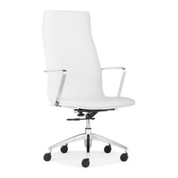 ZUO MODERN - Herald High Back Office Chair White - Herald High Back Office Chair White