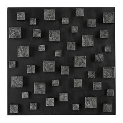 Sterling Industries - Nova-Contemporary Wall Panel In Etched Silver (Square) - Nova-Contemporary Wall Panel In Etched Silver (Square)