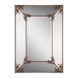 Uttermost - Antique Gold Leaf Ansonia Mirror - Antique Gold Leaf Ansonia Mirror