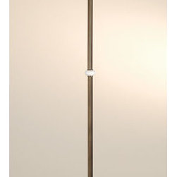 Meyda - 71 Inch Height Wicker Sunflower Torchiere Floor Lamps - Color theme: Beige HA LA 59 Amber