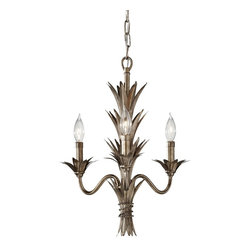 Murray Feiss - Murray Feiss Flora Traditional Chandelier X-ATS3/5862F - From the Flora Collection comes this unique Murray Feiss chandelier with crisp nature-inspired details. The candelabra style lights feature leafy drip trays and the entire body has been finished in a golden toned Stardust finish over sturdy steel construction.