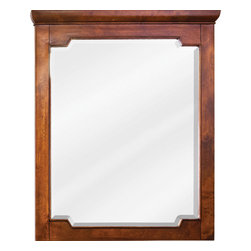 Hardware Resources - Chatham Shaker Jeffrey Alexander Mirror 28 x 1-1/2 x 34 - 28 x 34 Chocolate mirror with beveled glass