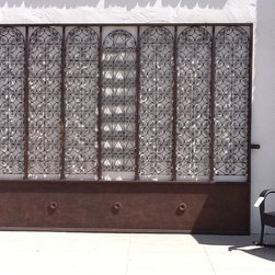 Moroccan Outdoor - Moroccan Wrought Iron Gate made with multiple Moroccan screens, all hand forged.