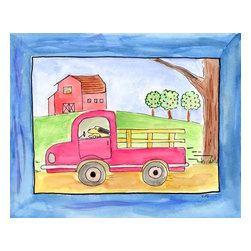 Oh How Cute Kids by Serena Bowman - Farm Life - Pickup Truck, Ready To Hang Canvas Kid's Wall Decor, 20 X 24 - Every kid is unique and special in their own way so why shouldn't their wall decor be so as well! With our extensive selection of canvas wall art for kids, from princesses to spaceships and cowboys to travel girls, we'll help you find that perfect piece for your special one.  Or fill the entire room with our imaginative art, every canvas is part of a coordinating series, an easy way to provide a complete and unified look for any room.