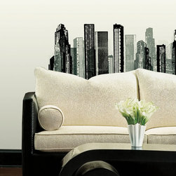 Towers Wall Decal - You don't have to be in Manhattan or Chicago to dream of skyscrapers and modern cityscapes. The Towers Wall Decal brings the wonder of the urban jungle right into your living room or bedroom. Unlike stencils or paint, this decal is easy to apply and can be removed or repositioned at any time, with no sticky residue on the surface. Use it as the focal point of any room or apply it creatively behind furniture.