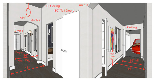Entry Foyer Dimensions : Key measurements hallway design fundamentals